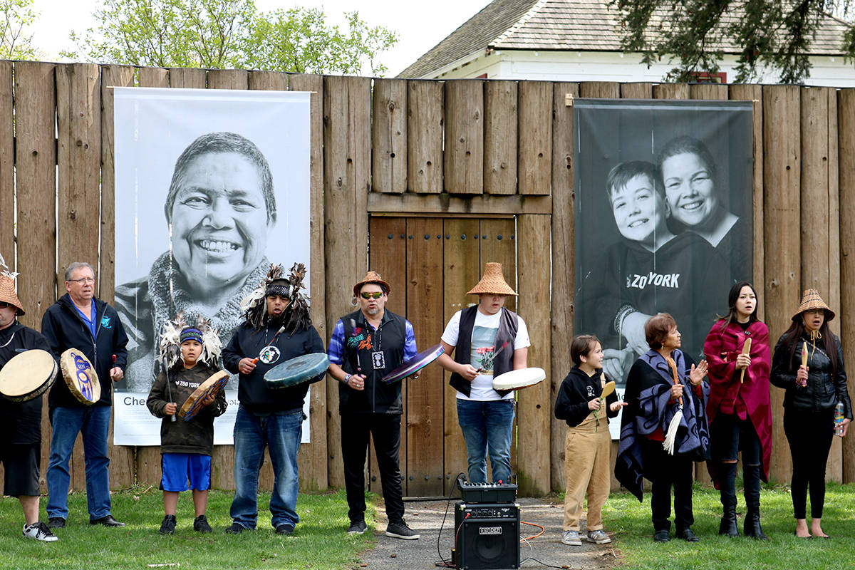 Images of Kwantlen First Nation members were part of a recent art project in the Fort. (Langley Advance Times files)