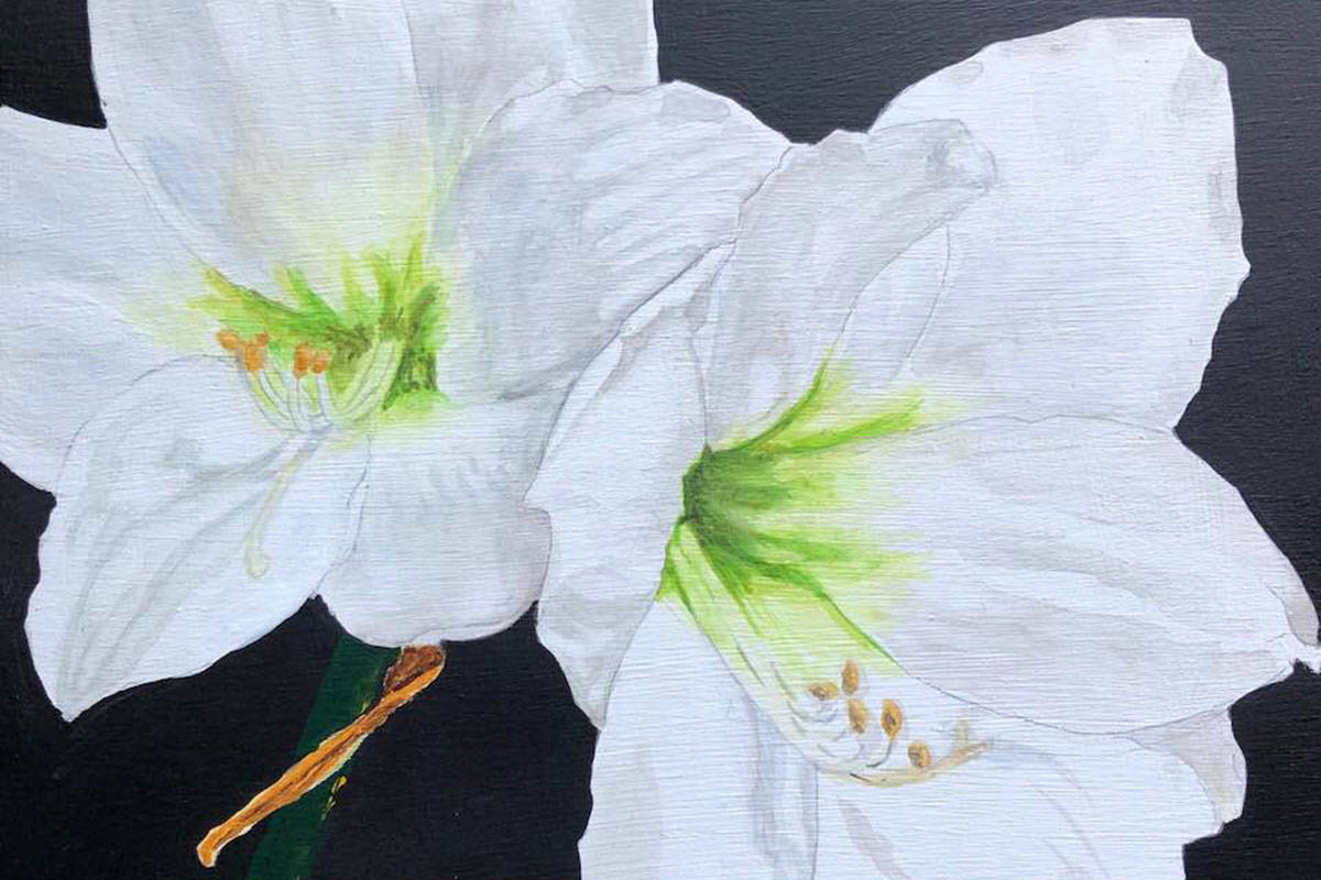 Fort Langley Artists Group paint anonymous works for charity