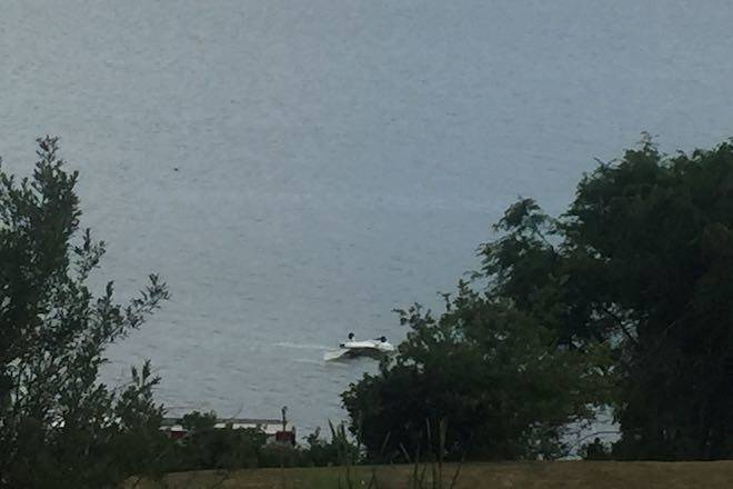 Two in hospital after float plane crashes in Okanagan Lake