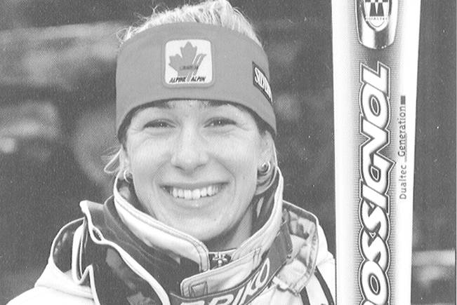 Nanaimo's Allison Forsyth during her time skiing with Alpine Canada's national team. NEWS BULLETIN file photo