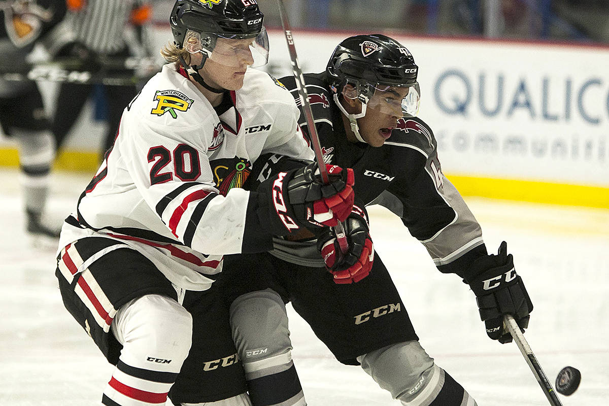Justin Sourdif has been named to Canada's summer U-18 selection camp roster. (Chris Relke/Vancouver Giants)