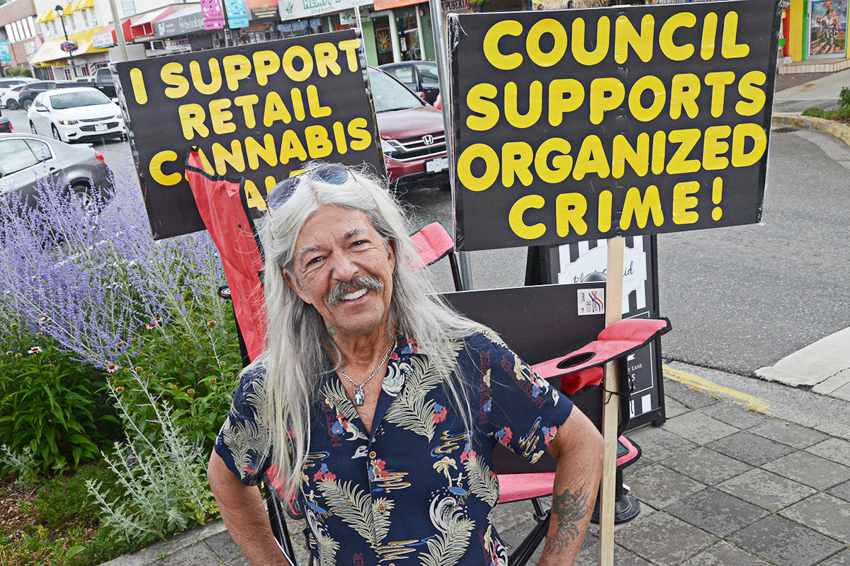 Randy Caine is still pushing for retail marijuana in the Langleys. (Matthew Claxton/Langley Advance Times)