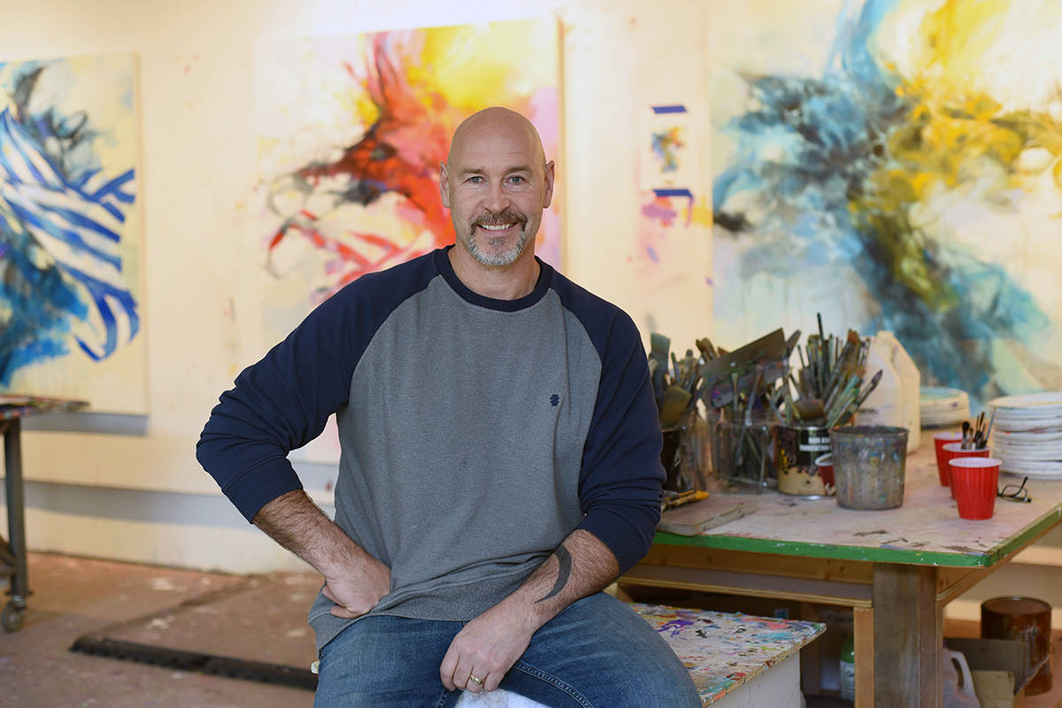 Artist Blu Smith creates colourful abstract West Coast landscapes