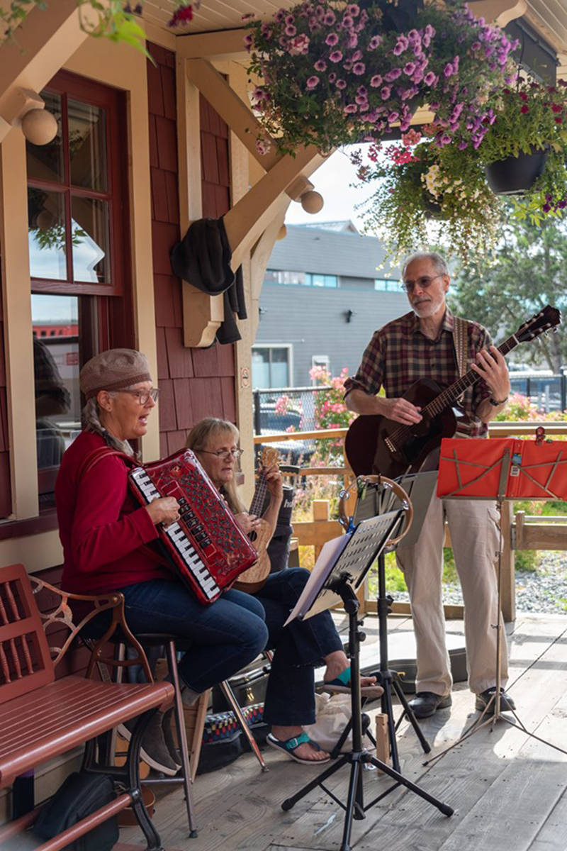 Live music at the 2019 Canada Day event hosted by Surrey's Heritage Rail. (Courtesy of the Fraser Valley Heritage Railway Society)