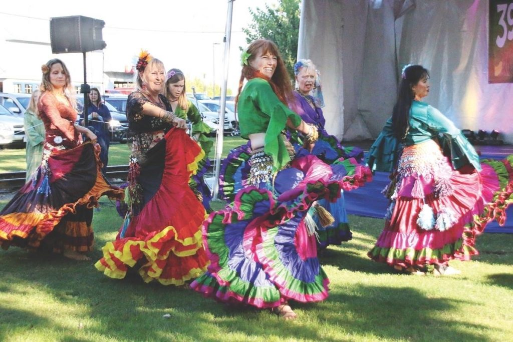 Bellydancing at The 39 Days of July in Duncan. (Lexi Bainas/Cowichan Valley Citizen)