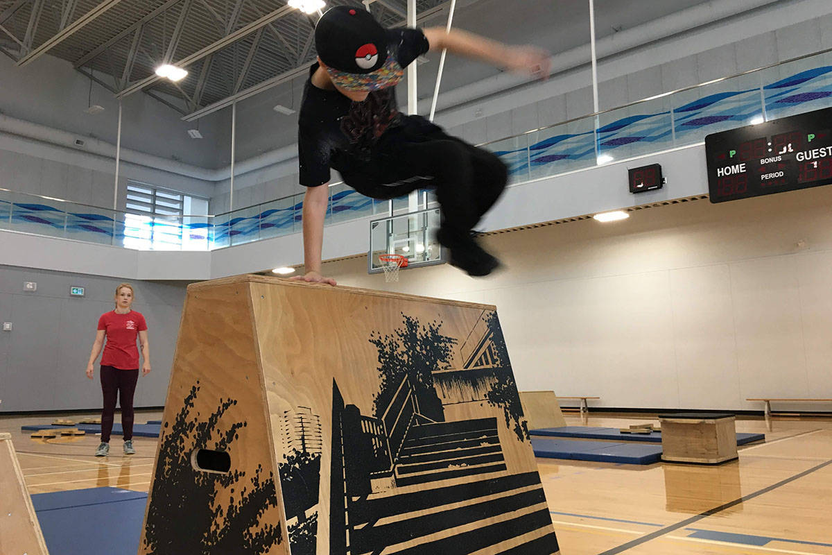 Journey Parkour members bounce and leap against obstacles as part of Langley's newest sporting club. (Jessie Simpson/Special to the Langley Advance Times)
