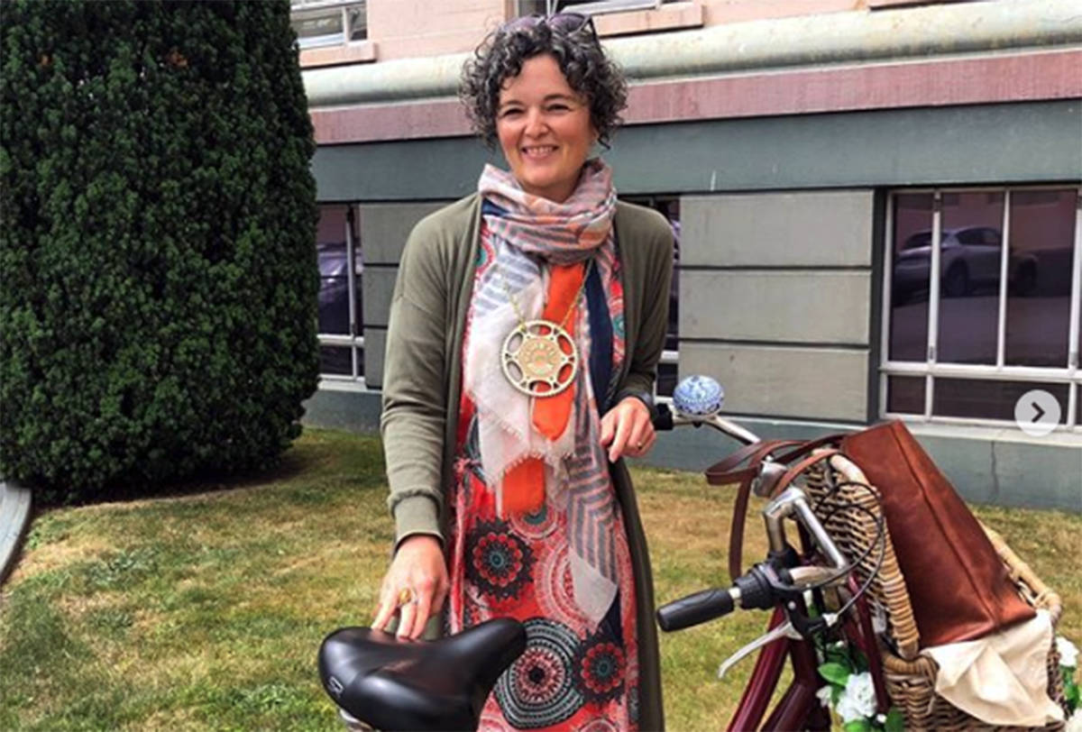 Susan Stokhof, the Bicycle Mayor of Victoria, says the need for helmets is a sign of failed infrastructure and leadership. (Instagram/Susan Stokhof)