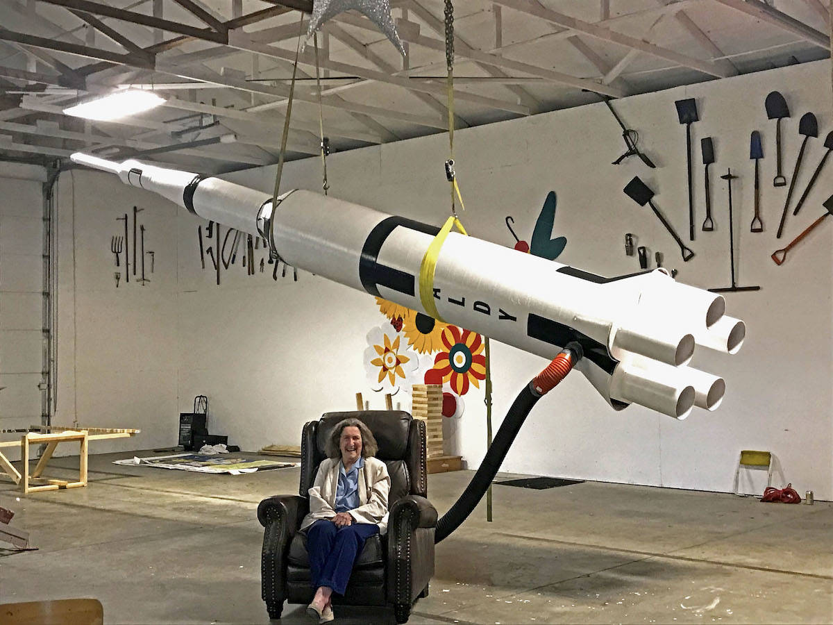 "Gladys Kirkland, a former NASA employee during the 1969 moon landing, will be a focal point of a this year's fair Moonland exhibit, an installment for its ""Aldy on the moon"" theme. (Sarah Grochowski photo)"