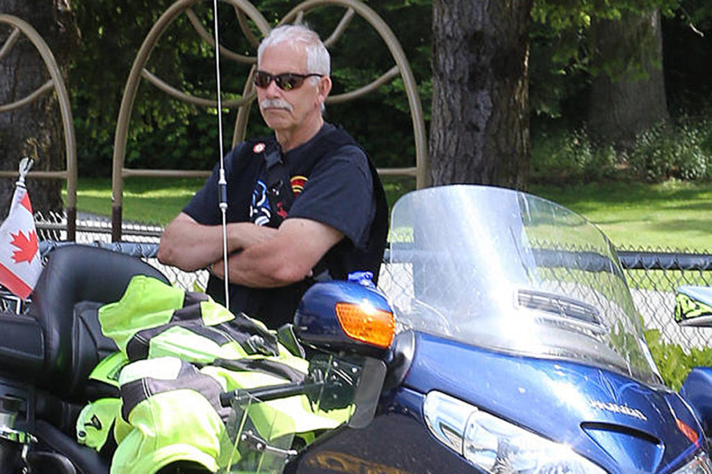 Retired firefighter and long-time Muscular Dystrophy Canada volunteer Kerry Zado, for the fourth time, is coordinating a Ride for Doug on Vancouver Island. The charity motorcycle ride happens Sunday, and the ride's namesake, Doug Penner, will be onhand, too. (Theresa Wiebe photo)