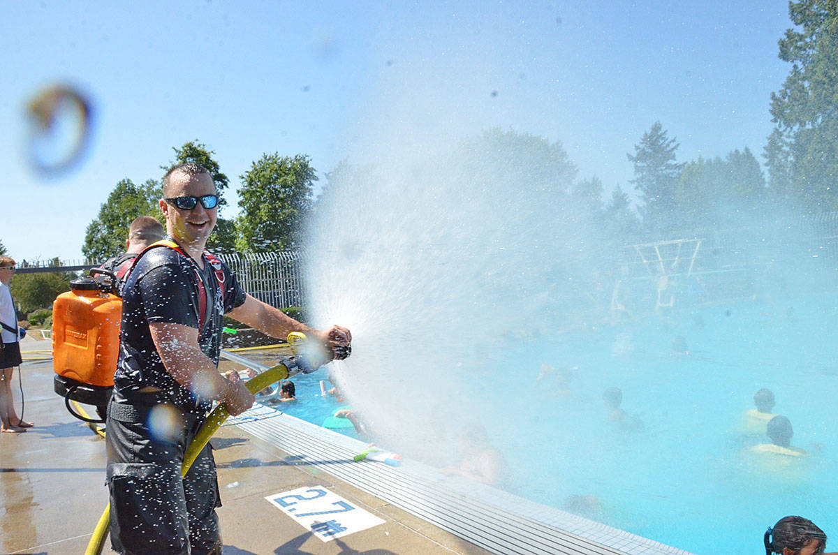 The Legendary Water Fight happens annually at the Al Anderson Memorial Pool in Langley City. (Langley Advance Times files)