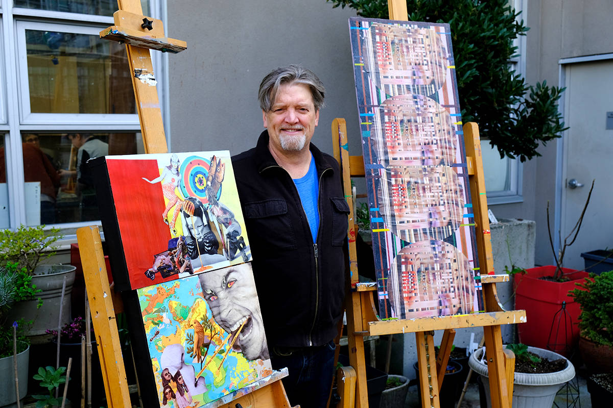 Jerry LaFaery is a Vancouver artist who's work is being showcased through Coast Mental Health's Art Project Roadshow. (Susan Hancock/Special to the Langley Advance Times)