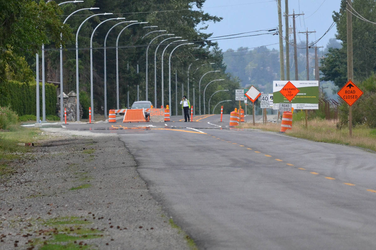 Widening of 192 Street from 40 Avenue north to Colebrook Road is currently underway; the yet-to-be-scheduled Phase 3 will focus on 32 Avenue south to 16 Avenue. (Aaron Hinks photo)
