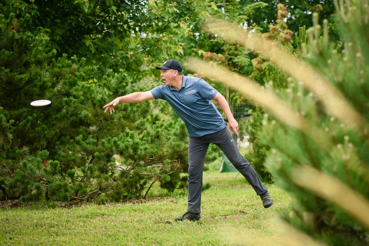 Canadian disc golf pro and Raptors Knoll course designer Chris Hartmann placed second in his division at the B.C. Open, in Aldergrove this past weekend. (Michael Kiesz photo)