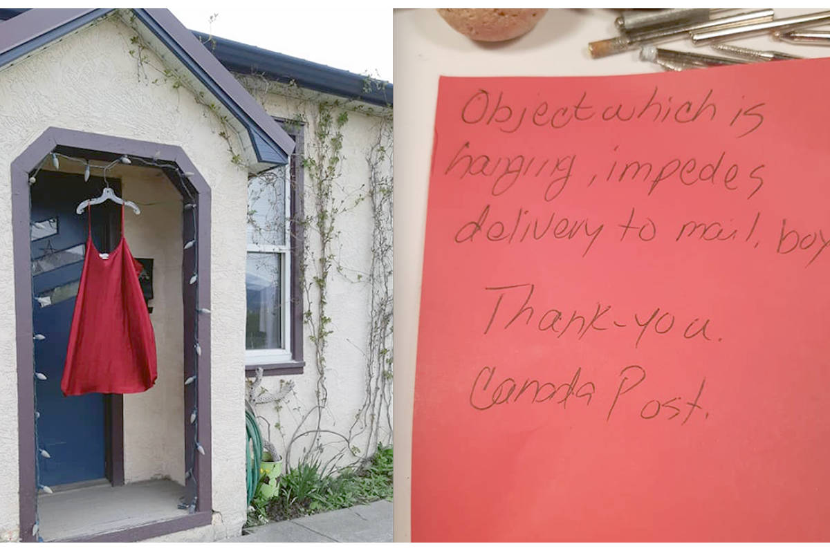 After receiving a note about red dress impeding mail delivery, local woman wants to educate community on MMIWG movement. (Contributed)