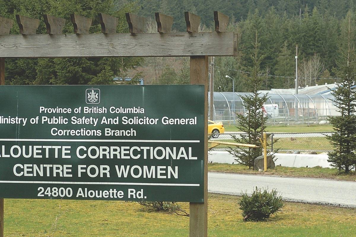 A transgender female inmate has filed a complaint with B.C. Human Rights Tribunal regarding treatment at Alouette Correctional Centre for Women in Maple Ridge. (THE NEWS/files)