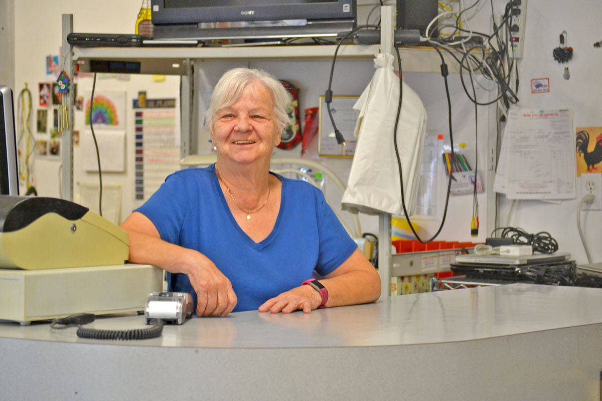 Rita Verhoef has operated Aldergrove's last remaining pawn shop, the Common Exchange, for 16 years with her daughter Jackie. It will close at the end of July when she retires from 25 years in the collateral loan business. (Sarah Grochowski photo)