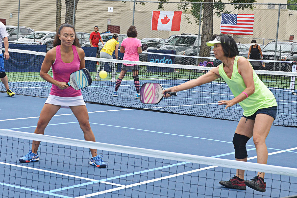 Players at the LAPD pickleball tournament. (Langley Advance Times files)