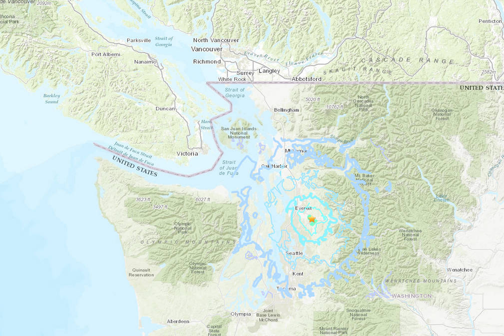 Earthquake rattles Washington state, felt on B.C.'s south coast