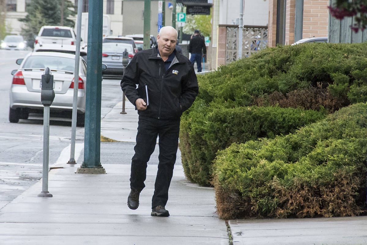 James Oler enters the Cranbrook Law Courts in Cranbrook on Friday, May 17. He is charged with the removal of a child from Canada under a subsection that the removal would facilitate sexual activity.