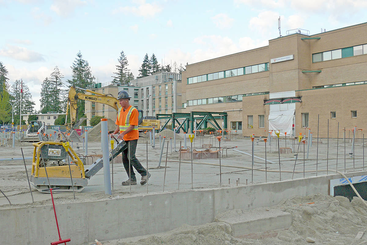 Work is underway on an expanded ER at LMH. Dan Ferguson Langley Advance Times