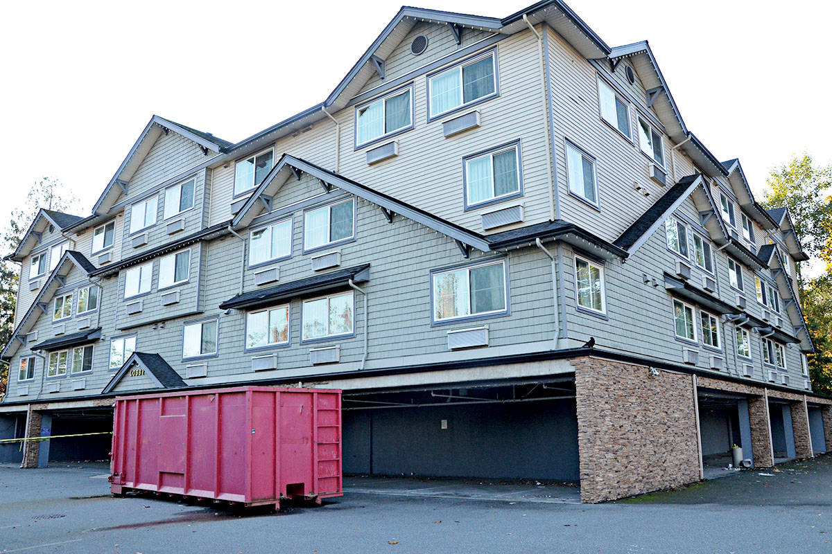 The former Quality Inn is becoming Creek Stone Place, a supportive housing project. (Langley Advance Times files)