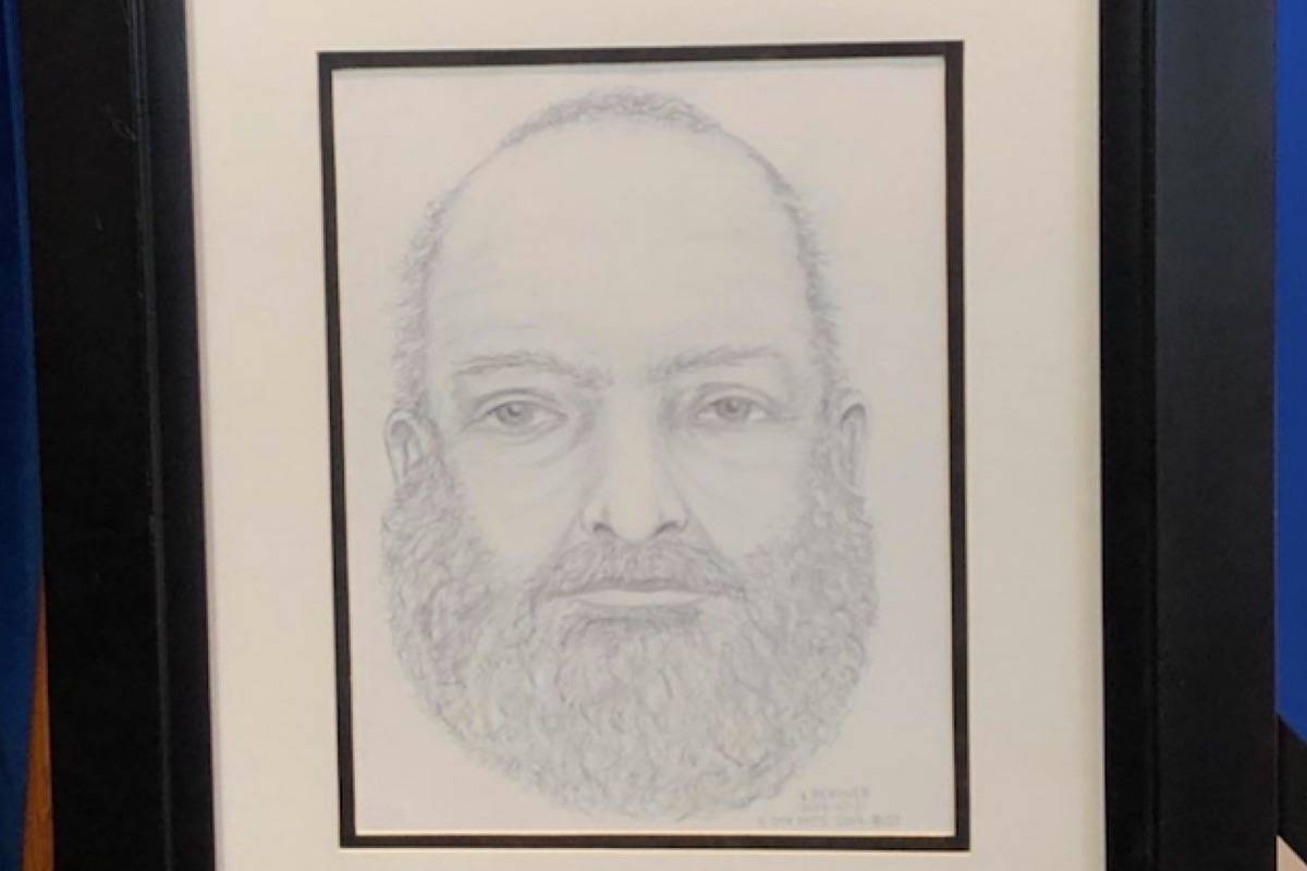 RCMP released this composite sketch of the man found dead near the burning vehicle belonging to two missing teenagers from Port Alberni. (RCMP handout)
