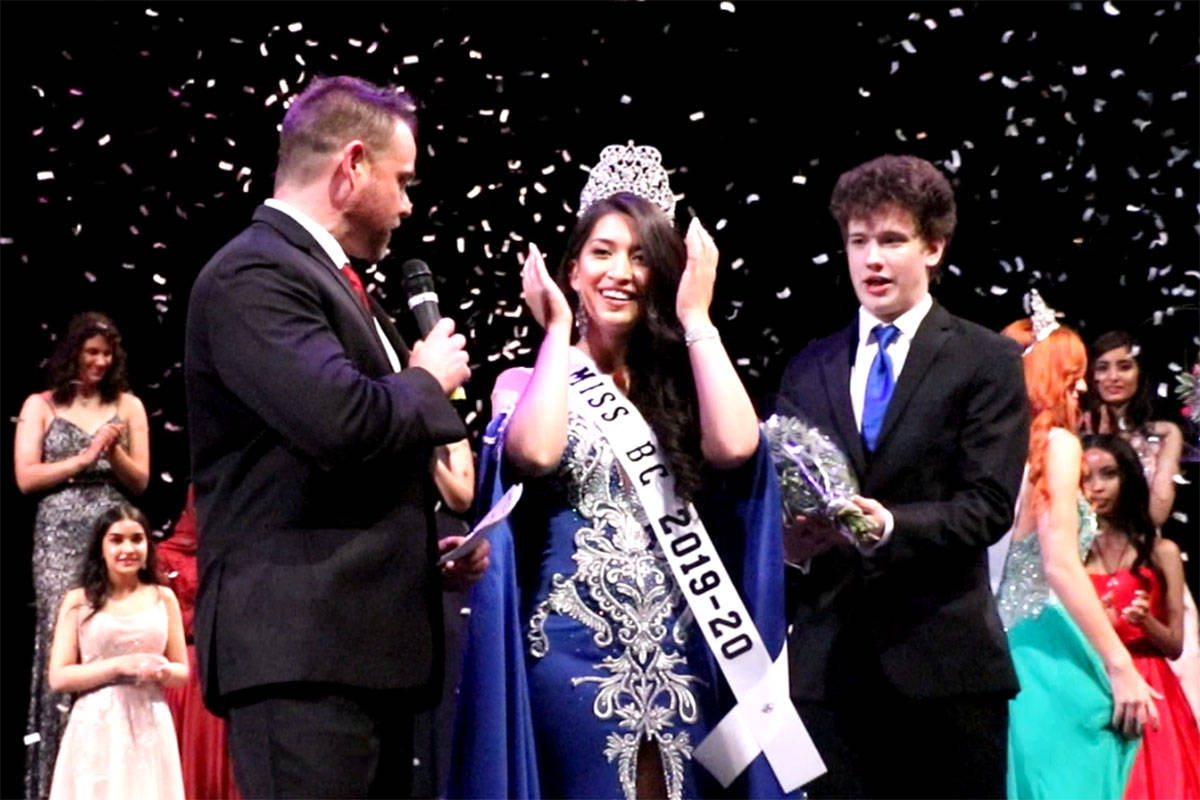 Surrey's Bremiella DeGuzman took the Miss BC title on July 1 in Fort Langley. (Baneet Braich/Special to the Langley Advance Times)