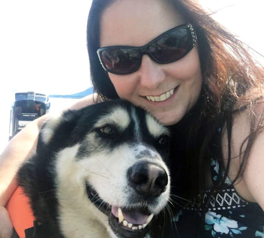 Dee Gallant and her husky Murphy. (Photo submitted)