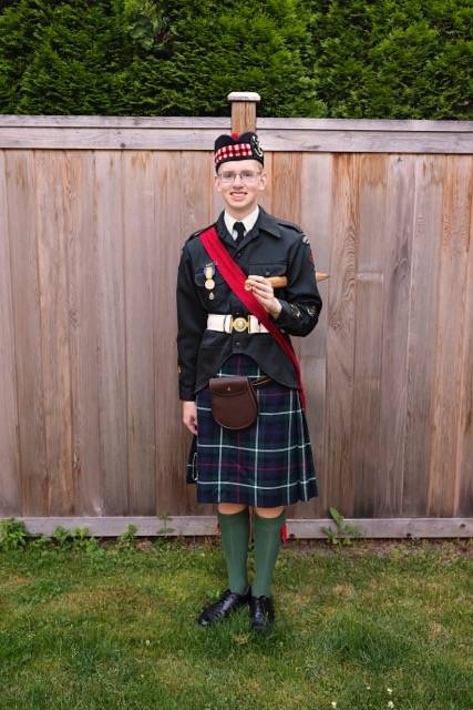 Callum Illot, 18, is waiting on his B.C. school transcripts to secure his admission into the Royal Military College. (Jane Illot)