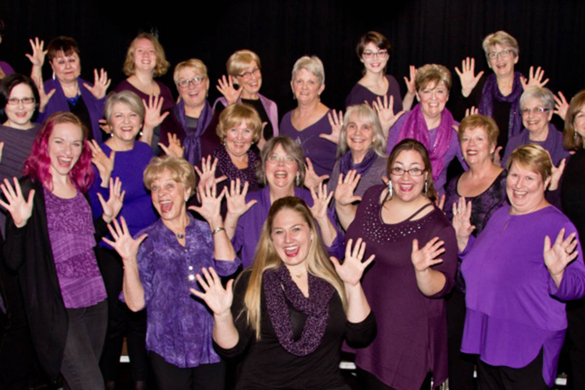 The Peace Arch Chorus performs in McBurney Plaza for the Sounds of Summer Concert Series on Aug. 7. (Peace Arch Chorus/Special to the Langley Advance Times)