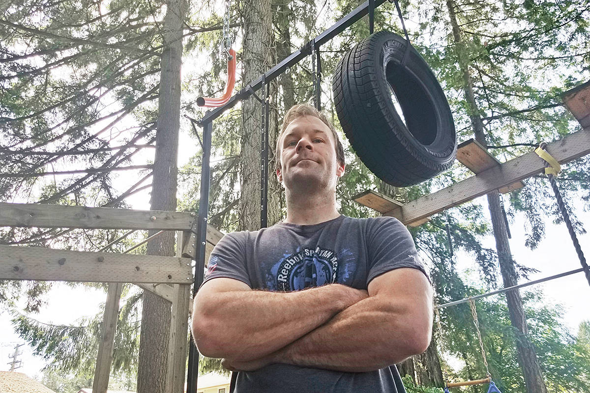 Tristan Kasmer believes having his own obstacle course in the back yard of his Brookswood home helped him finish in the top five of an international Ninja competition. (Dan Ferguson/Langley Advance Times)