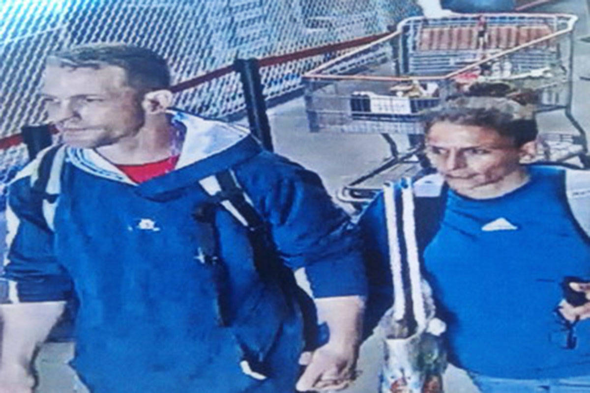 This pair may have stolen items from Langley's Costco.