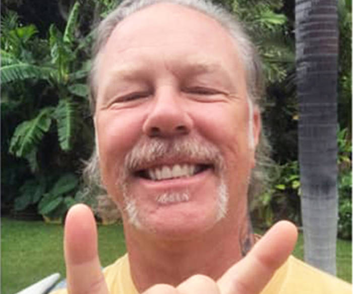 This is the photo of himself James Hetfield sent to Dee Gallant after contacting her about Metallica's music saving her from a volatile situation with a cougar. (Photo submitted)