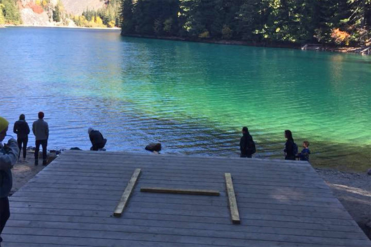 Helipad at Lindeman Lake in the Chilliwack River Valley. (Misty Dowson/Facebook)
