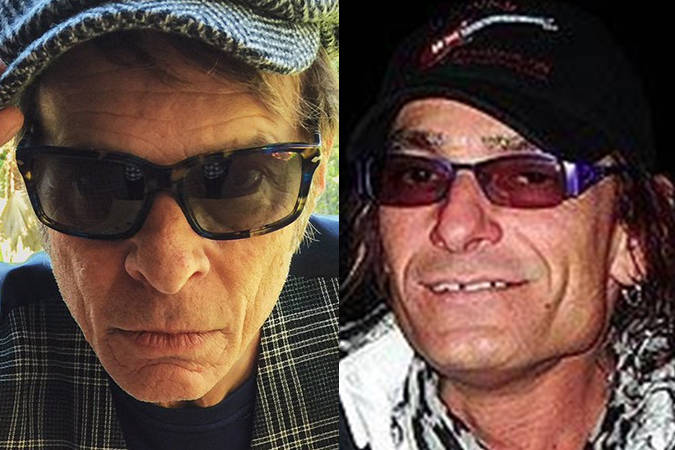 David Lee Roth (left) and the Chilliwack man who for years has impersonated him, David Kuntz-Angel (right). Kuntz-Angel was convicted on Aug. 2, 2019 of various counts connected to sex with an underage girl. (Twitter/Brantford Expositor)