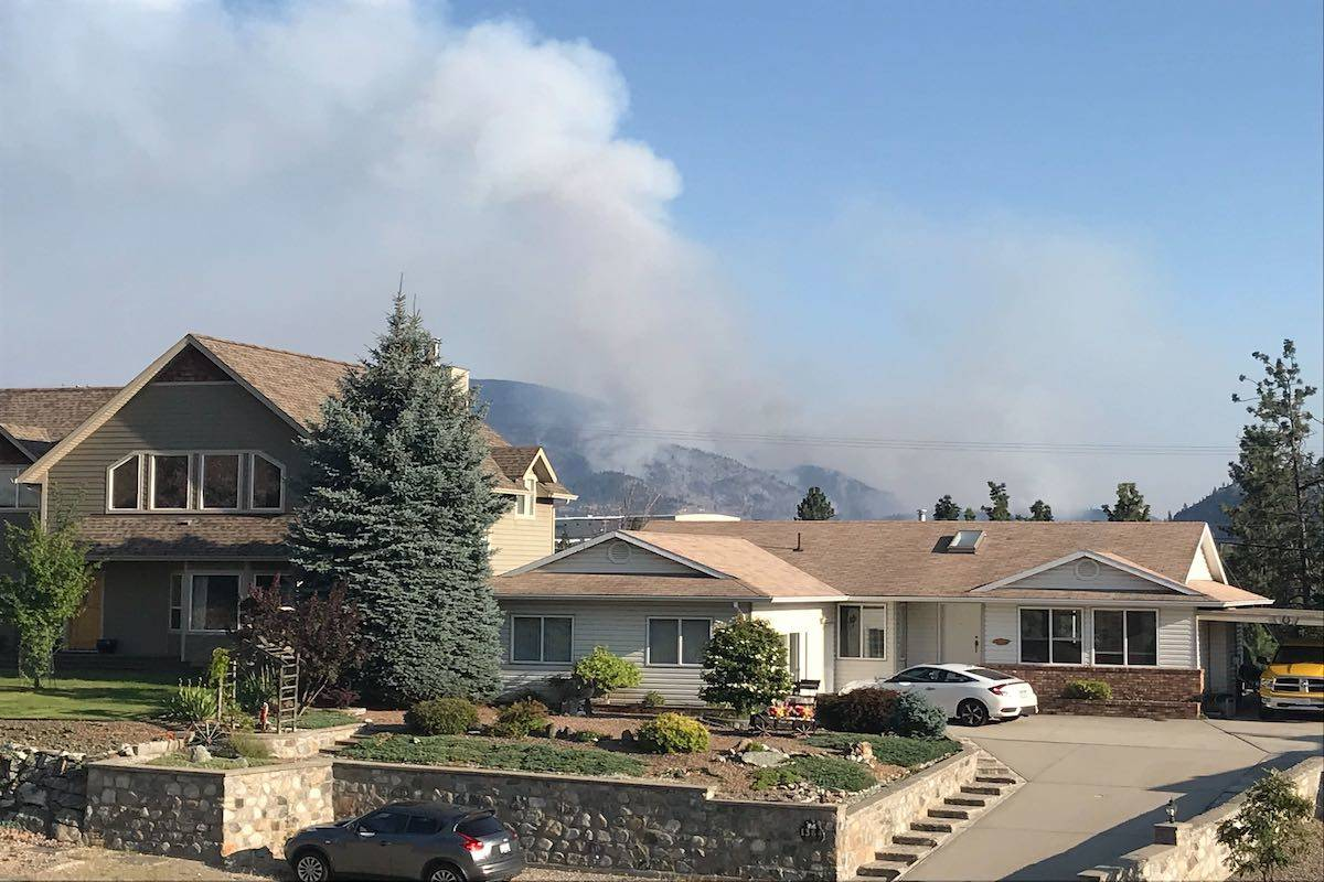 Wildfire in the South Okanagan grows to 600 hectares