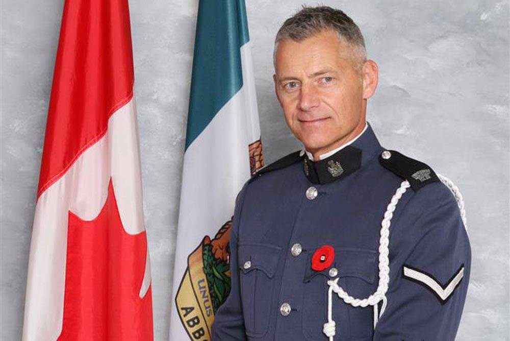 Abbotsford Police Const. John Davidson was killed in the line of duty on Nov. 6, 2017. His daughter, Fay, is speaking at a fundraising golf tournament and dinner in Langley on Aug. 15.-