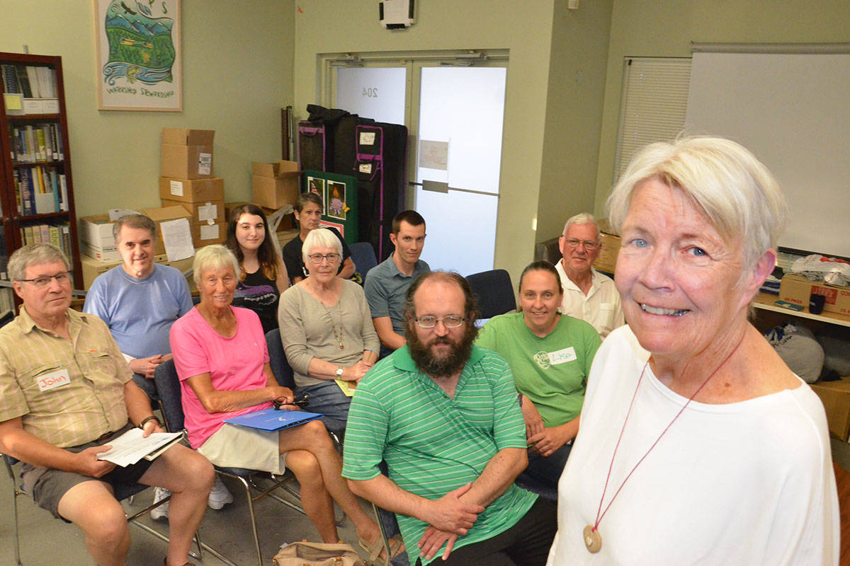 Sheryl Mountenay (right) founded the Climate Crisis Langley Action Partners which most recently met Aug. 8. (Heather Colpitts/Langley Advance Times)