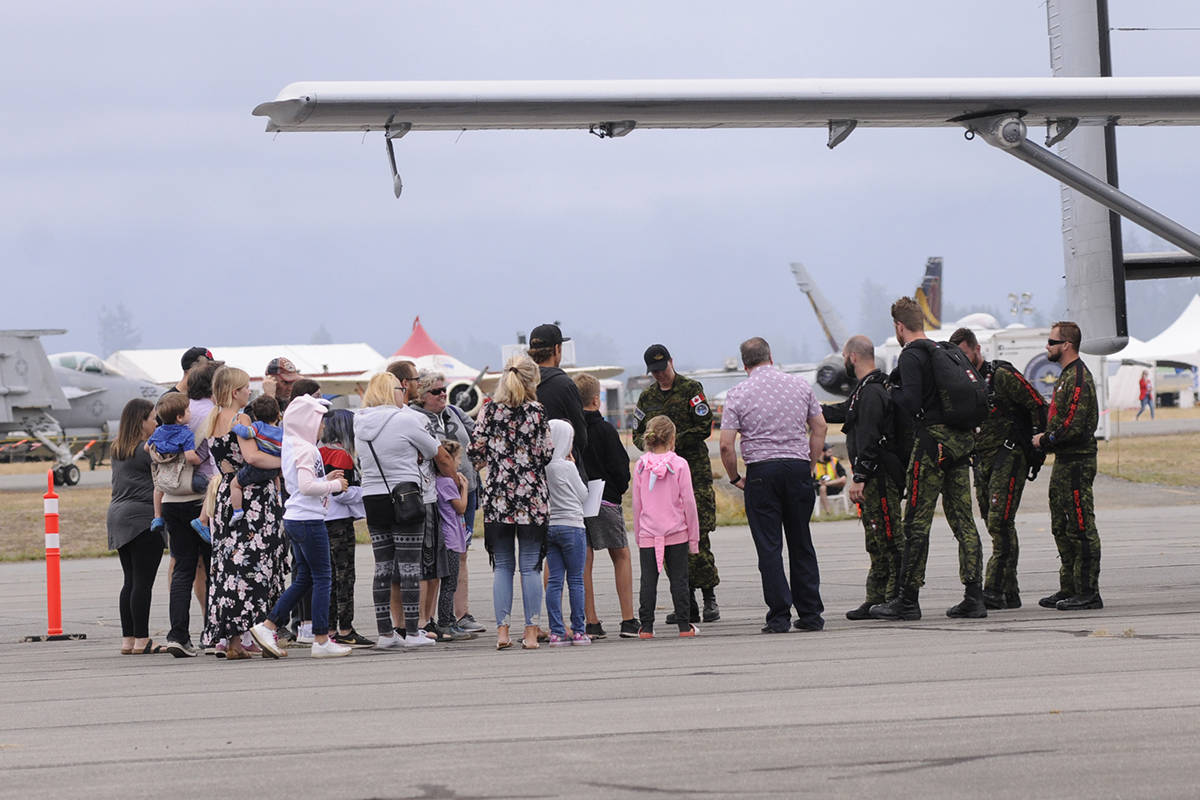 Eight junior reporters got to ask questions of pilots prior to the start of the Abbotsford International Airshow. John Morrow/Abbotsford News