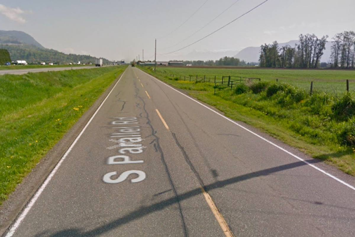 A pedestrian died Friday night after being struck by a vehicle in the 36500 block of South Parallel Road. (Google Street View)