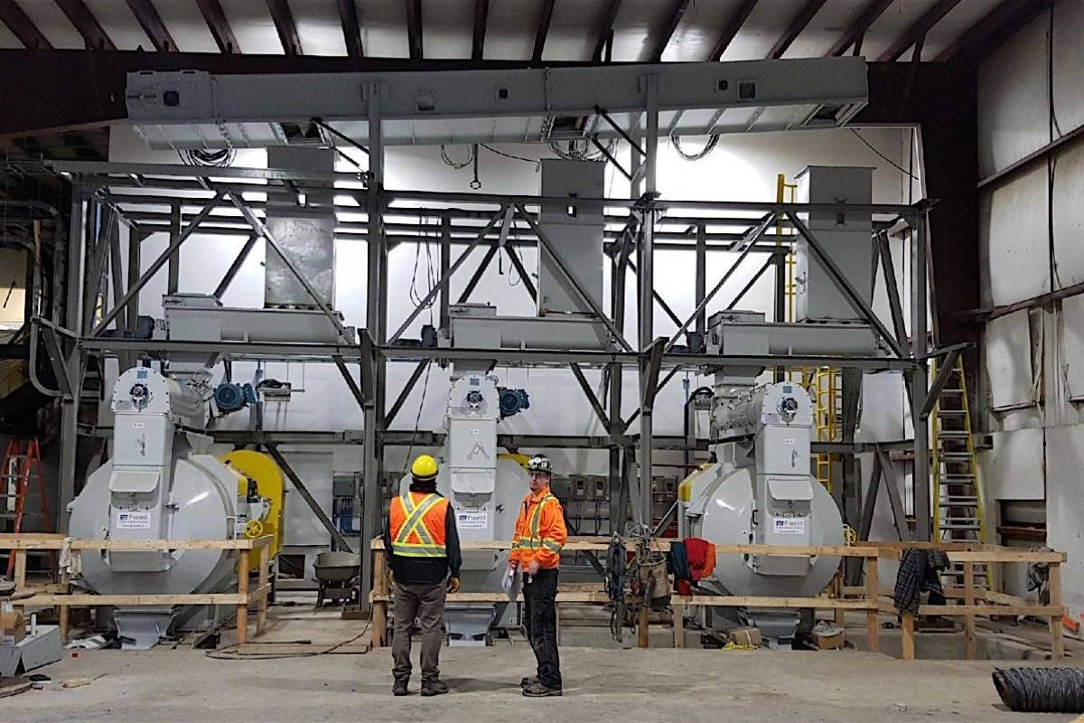 Pellet plant recently completed at Terrace's only sawmill uses waste wood to create a new revenue stream. (Skeena Sawmills)