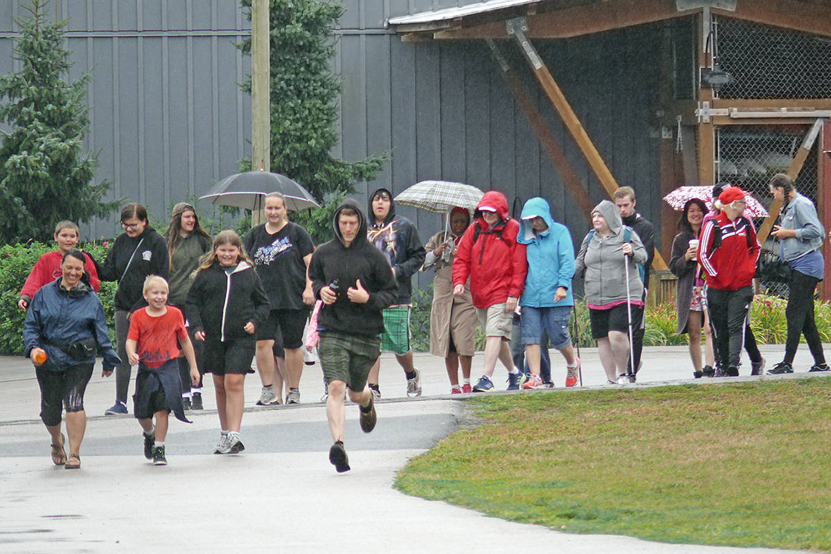 Close to 50 people took part in the fourth annual Step Up For Kids walkathon in Fort Langley. (Dan Ferguson/Langley Advance Times)