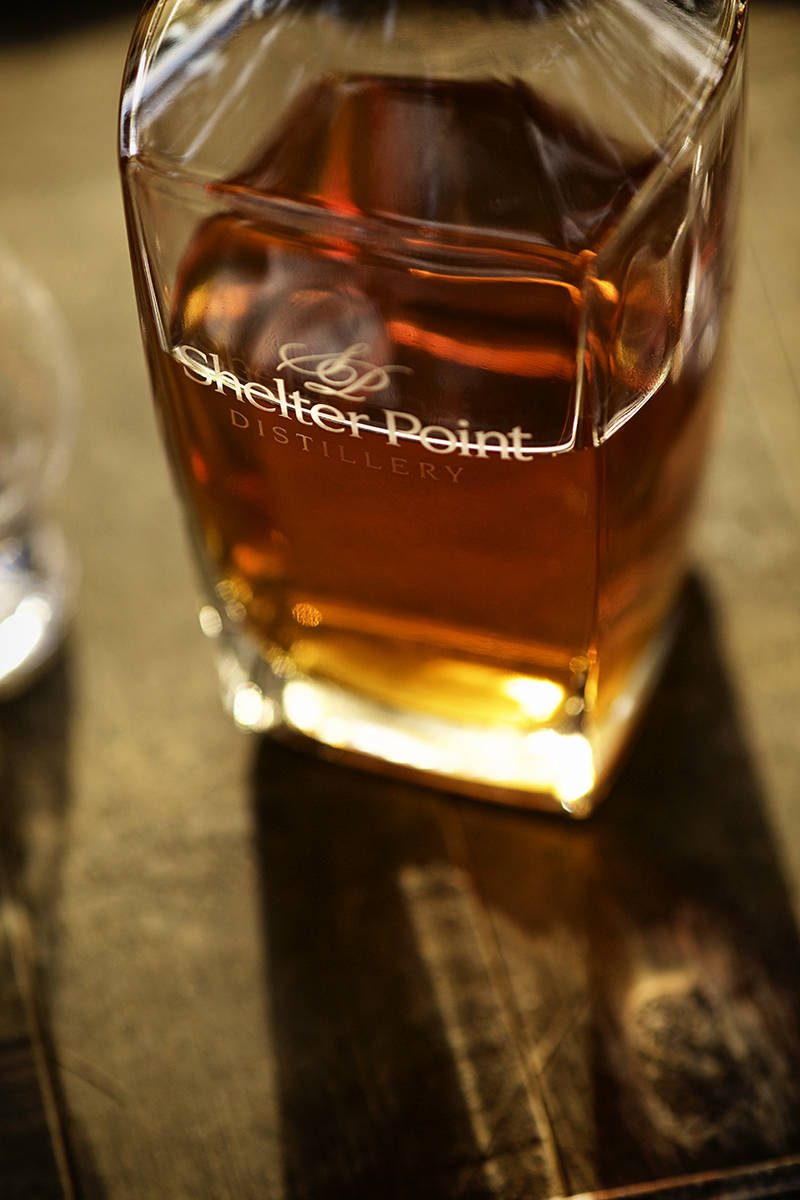 What gives whisky its unique flavour? The soil, and the variety and quality of the grain, but also factors like the distilling process, the type of barrel used, and even the water. At Shelter Point, water bubbles up from a mountain-fed aquifer, for a pure-tasting addition.