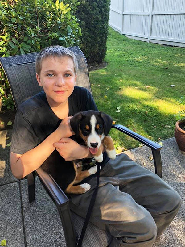 Carson Crimeni at a family barbecue, a week before he passed.