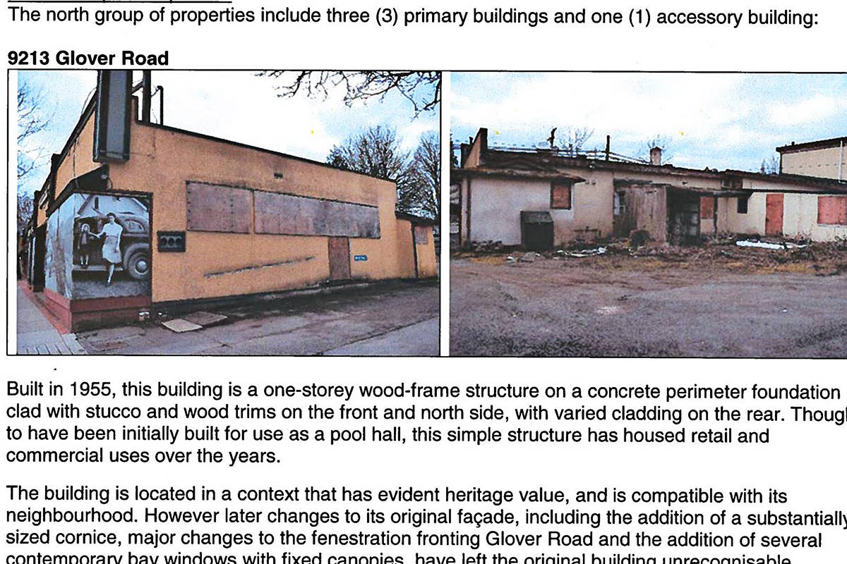 Buildings on various lots owned by Eric Woodward are slated for demolition. The Township report has been released showing they have no heritage value. (Township report)