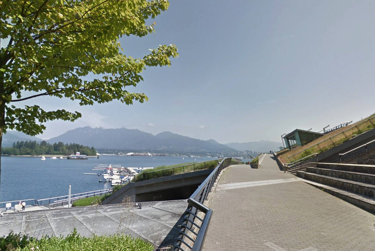 Portion of the seawall near the Vancouver Convention Centre. (Google Maps)