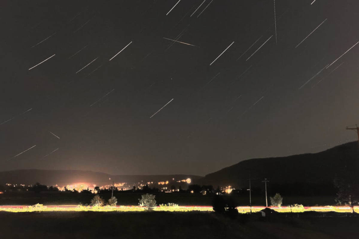 At the Perseid meteor shower's peak, a star gazer will see roughly 100 meteors an hour in dark sky locations. (Tammy-Lynn Post photo)