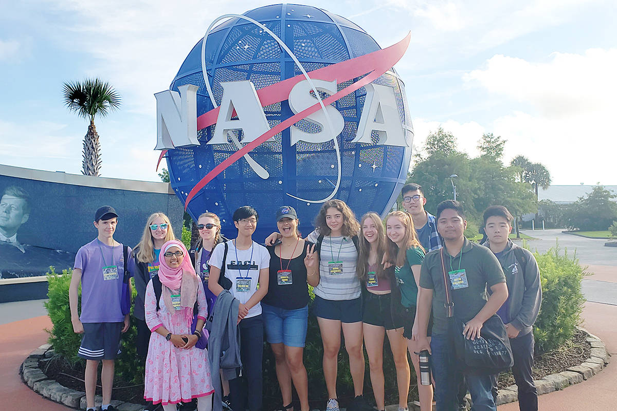 Some of the high school students who made up the Canadian team at this year's International Space Settlement Design Competition, held at NASA's Kennedy Space Center in Florida in July. (Photo submitted)