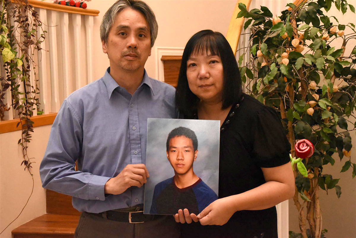 Samson and Chelly Wong, parents of Alfred Wong, who was killed Jan. 13, 2018. (Vancouver Police)
