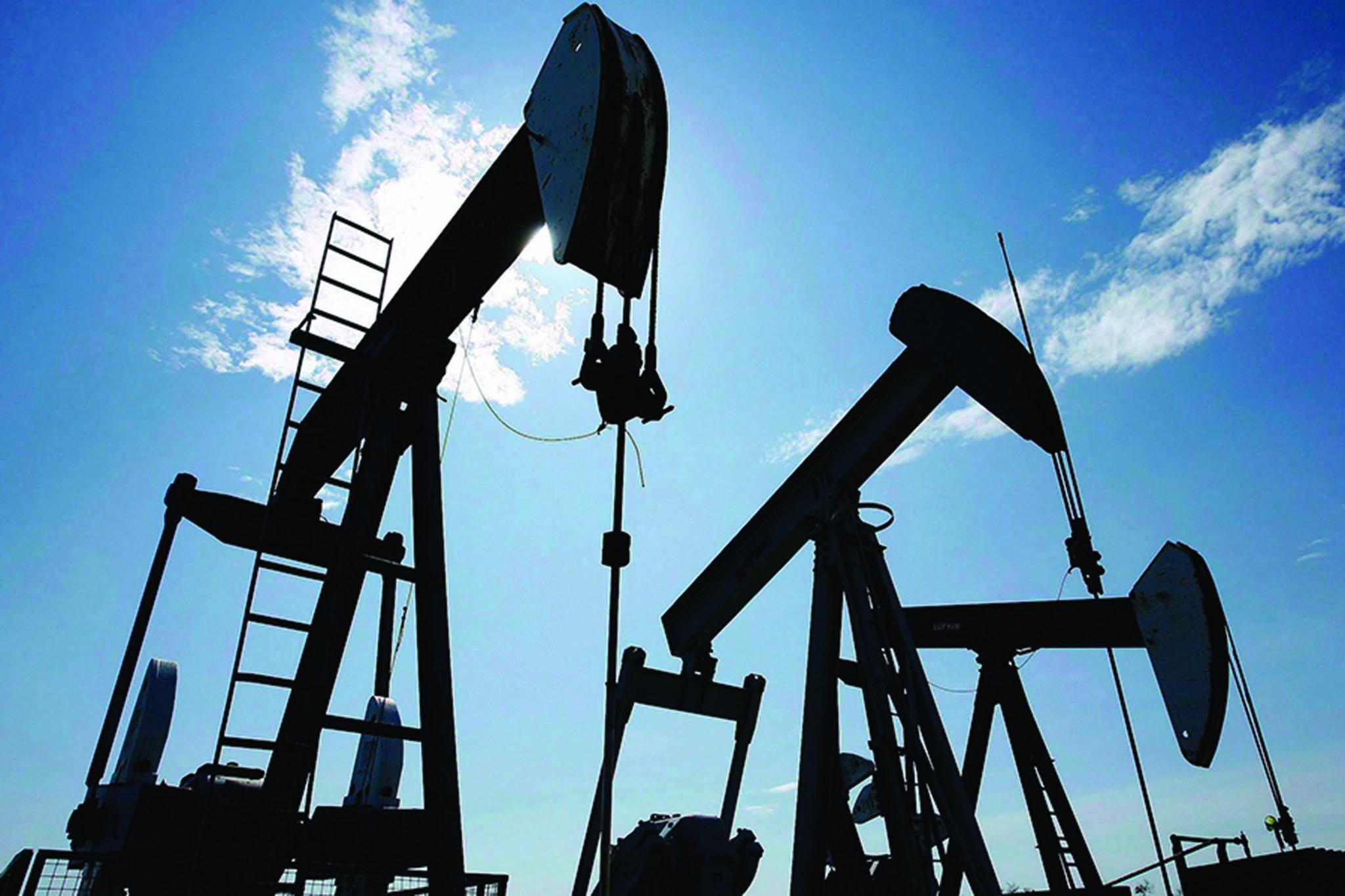Pumpjacks pump crude oil near Halkirk, Alta., June 20, 2007. THE CANADIAN PRESS/Larry MacDougal